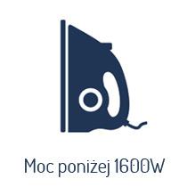 Żelazka o mocy poniżej 1600 W
