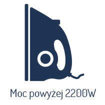 Żelazka o mocy powyżej 2200 W